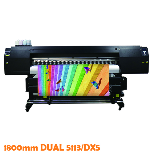 1.8m High Speed Dual 5113 Sublimation Printer