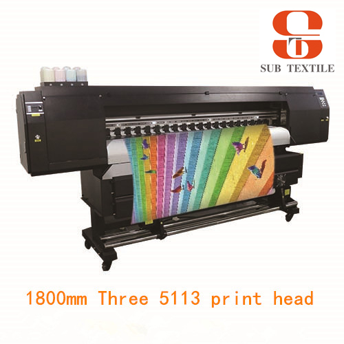 Our star product -1.8m High Speed three 5113 print heads sublimation printer