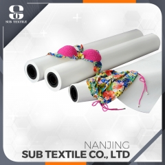105gsm fast dry sticky sublimation transfer paper roll for sportswear