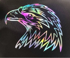 Reflective roll size heat transfer vinyl