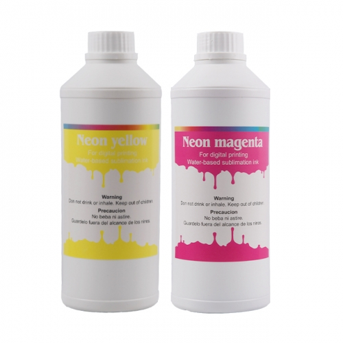 Dispersed Fluroscent Dye Sublimation Ink For Polyester Sportswear Printing Compatible For Epson Ro land Mimaki Mutoh