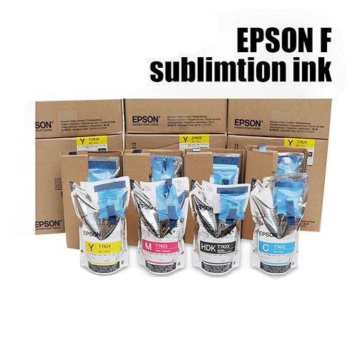 Epson Original Dye Sublimation Ink (C.M.Y.HDK) For Epson Surecolor Printer with Sublimation Paper